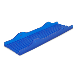Blue PVC Skid Pad for 3 Inch Boat Trailer Crossmembers