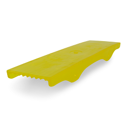 Yellow PVC 3 inch Skid Pad for Boat Trailer Crossmembers