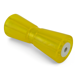 10 inch Yellow Poly Vinyl Boat Trailer Keel Roller