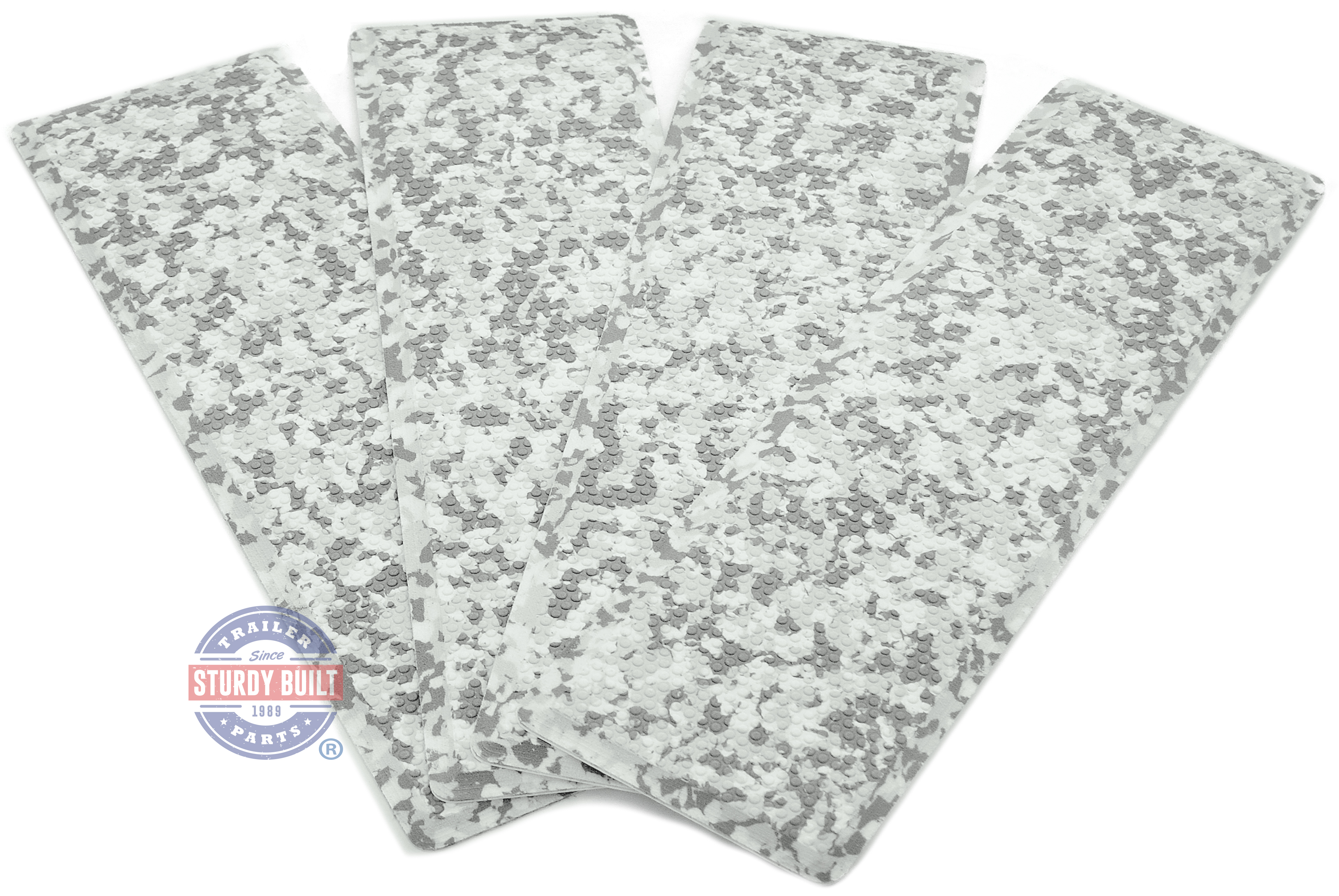 SeaDek Step Pad Kit 4 Piece 12.75 inch Snow Camo For Boat Trailers