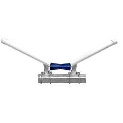 Boat Trailer V-Guide Aluminum Blue Polyvinyl Roller with Mounting Hardware
