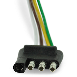 4 Flat Male Connector Plug