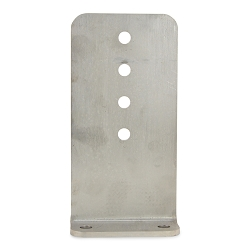 10 inch Bunk Bracket Stainless Steel L-Type for Bunk Boards on Boat Trailers (1/4 inch thick)