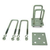 Trailer Leaf Spring Stainless Steel U-Bolt Kit Fits 2 x 3 Axles 6 ¼ in