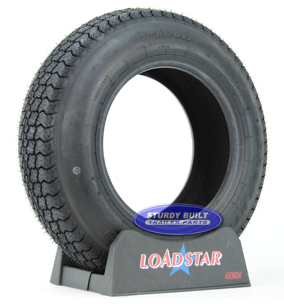 ST175 80D13 Boat Trailer Tire B78 13 by LoadStar LRC