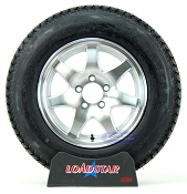 ST205/75D15 Boat Trailer Tire on 7 Spoke Aluminum 5 Bolt Wheel F78-15