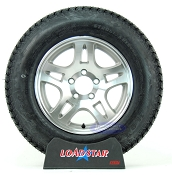 ST205/75D15 Loadstar Trailer Tire on 5 Lug Aluminum Split Spoke Wheel