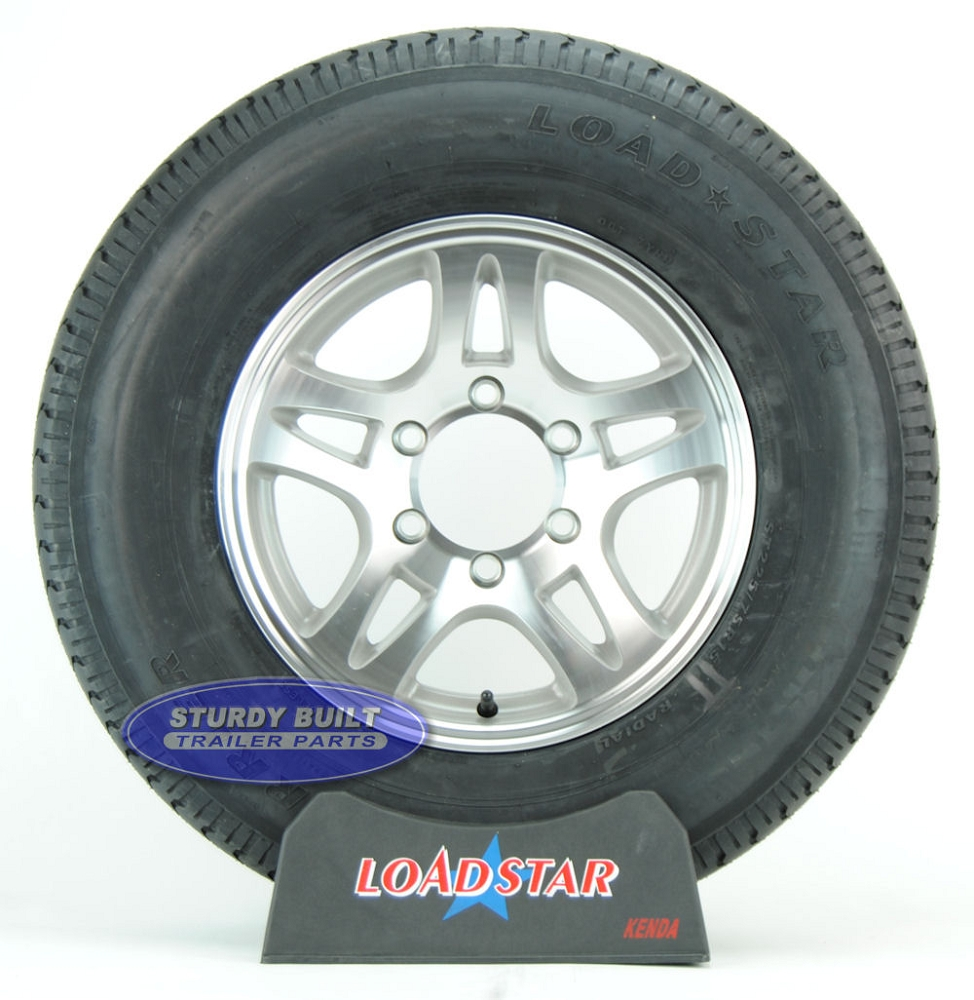 ST225 75R15 Radial Boat Trailer Tire on a Aluminum Split
