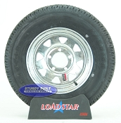 ST175/80R13 Radial Boat Trailer Tire on a Galvanized 5 bolt Wheel