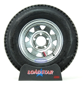 ST175/80D13 Boat Trailer Tire on a Galvanized 5 bolt Wheel B78-13