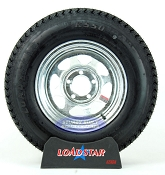 ST205/75D14 Bias Ply Tire mounted on a Galvanized 5 bolt Trailer Wheel