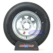 ST205/75R15 Radial Boat Trailer Tire mounted on a Galvanized 5 bolt Wheel