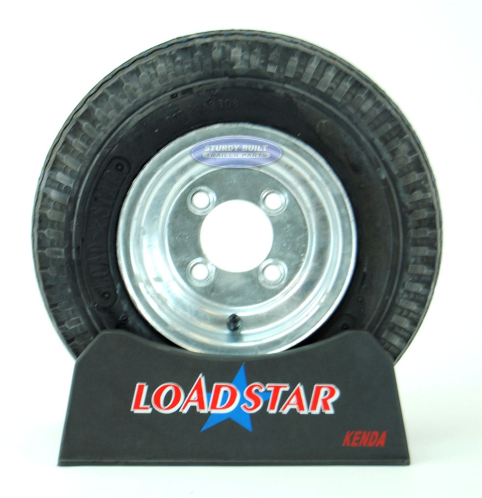 St 4 80 X 8 Trailer Tire On 4 Bolt Galvanized Wheel 4 On 4