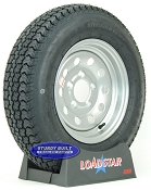 ST175/80D13 Trailer Tire B78-13 on a Silver Gray Mod 5 bolt Wheel