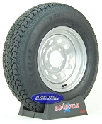 ST225/75D15 Trailer Tire H78-15 on a Silver Gray Mod 6 bolt Wheel