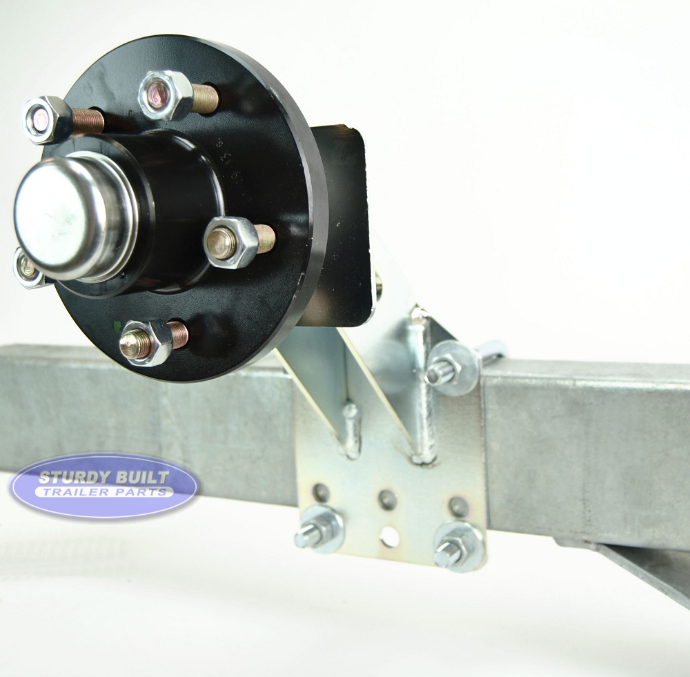 Trailer Spare Tire And Hub Carrier 5 Lug For 3500lb Axles
