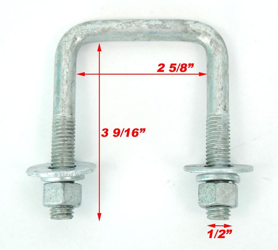 square inch galvanized ubolt galv ubolts