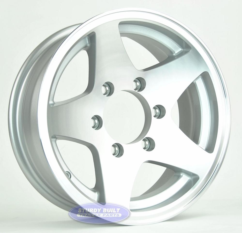 Aluminum Boat Manufacturers >> 15 inch 6 Lug Aluminum 5 Star Trailer Wheel
