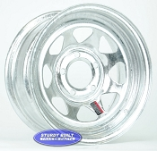 15 inch 5 Bolt 5 on 4 1/2 Pattern Galvanized Spoke Boat Trailer Wheel