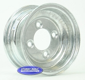 8 inch Galvanized 4 Lug Trailer Wheel with 4 on 4 lug Pattern