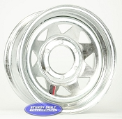 15 inch 6 Lug 6 on 5 1/2 Pattern Galvanized Spoke Boat Trailer Wheel