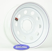 16 inch 6 bolt White Modular Trailer Wheel 6 on 5 1/2 Lug Pattern