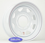 16 inch White Spoke 8 Bolt Trailer Wheel 8 on 6 1/2 Lug Pattern