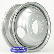 16 inch Dualie Trailer Wheel with a 4.77 inch Center Hole