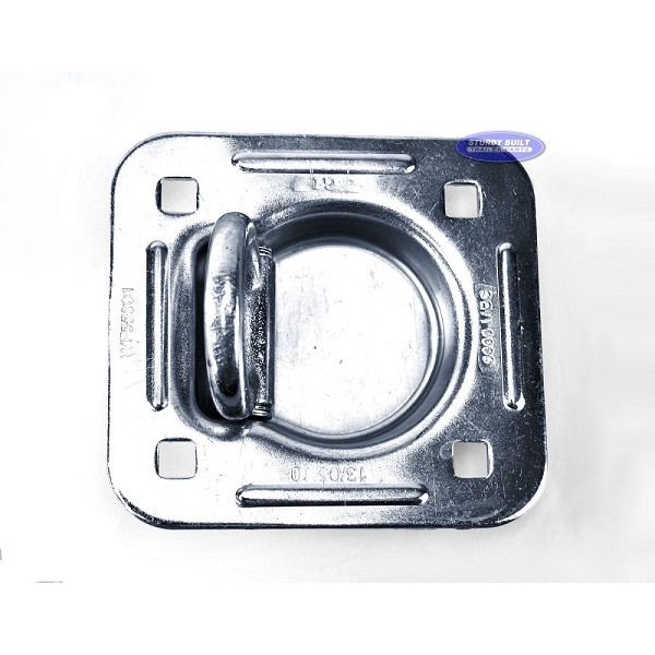 Flush Mount Anchor, Zinc Plated, Flip D-Ring, Rated to 5,000lbs