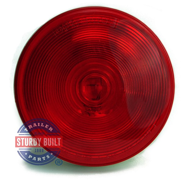 Round Sealed Incandescent Trailer Light 4 inch Round Three Function