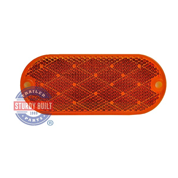 Trailer Side Marker Reflector Amber Oblong Oval