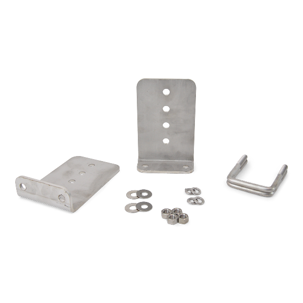 (2) 8 inch Stainless Steel L-Type Bunk Bracket Kit (1/4 inch thick) For 3x3 Boat Trailer Cross Members