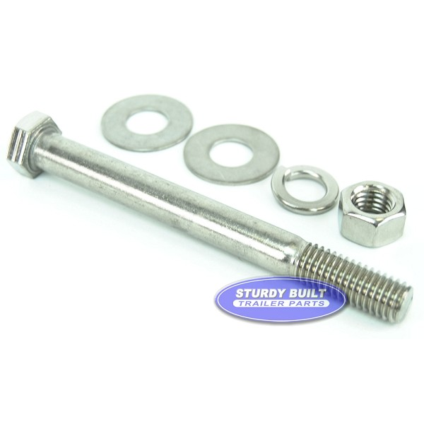 1/2 inch Diameter by 5 inch Long Stainless Steel Trailer Bolt