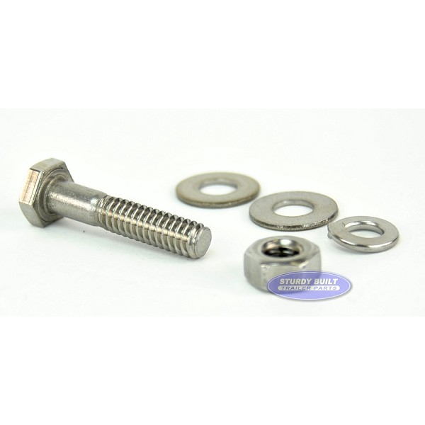 1/4 inch Diameter by 1 1/4 inch Long Stainless Steel Bolt