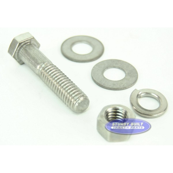 3/8 inch Diameter by 1 3/4 inch Long Stainless Steel Bolt