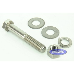 3/8 inch Diameter by 2 1/4 inch Long Stainless Steel Bolt