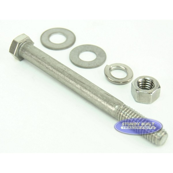 3/8 inch Diameter by 4 1/2 inch Long Stainless Steel Bolt