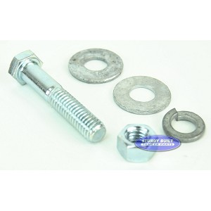 3/8 inch Diameter by 2 inch Long Zinc Plated Trailer Bolt