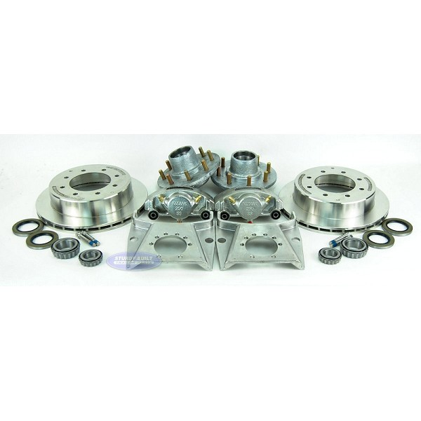 Kodiak Slip On All Stainless Steel Disc Brake Kit 8 Lug 7k w/ Hubs