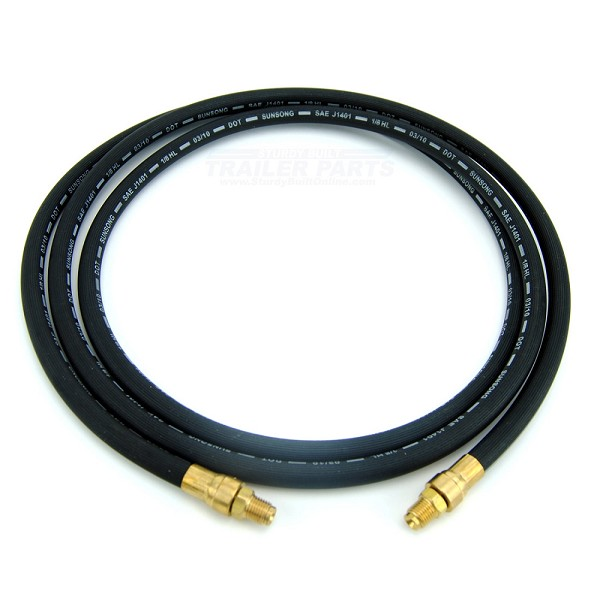 Boat Trailer Rubber Flexible DOT Brake Hose 74 inch Male Inverted Flare