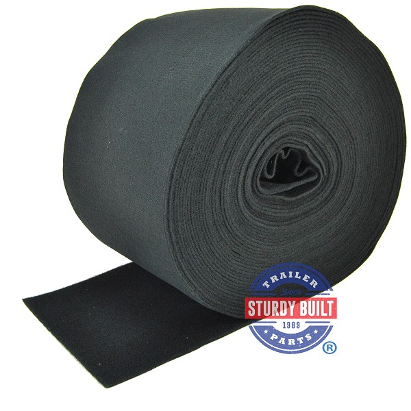 Boat Trailer Bunk Board Black Marine Carpet 12 inch Wide - Approximately 100 Ft
