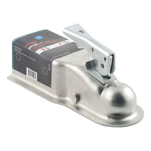2 inch Ball x 3 inch Wide Lever Lock Trailer Coupler 5,000lb Rating