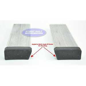 (PAIR) Aluminum Boat Trailer Round Fender Mount and Step Pad