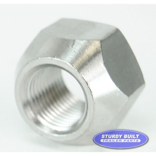Trailer Lug Nuts 1/2-20 Thread Stainless Steel Open Style