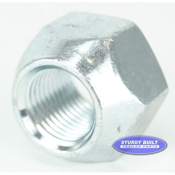 Trailer Lug Nuts 1/2-20 Thread Zinc Plated Open Style