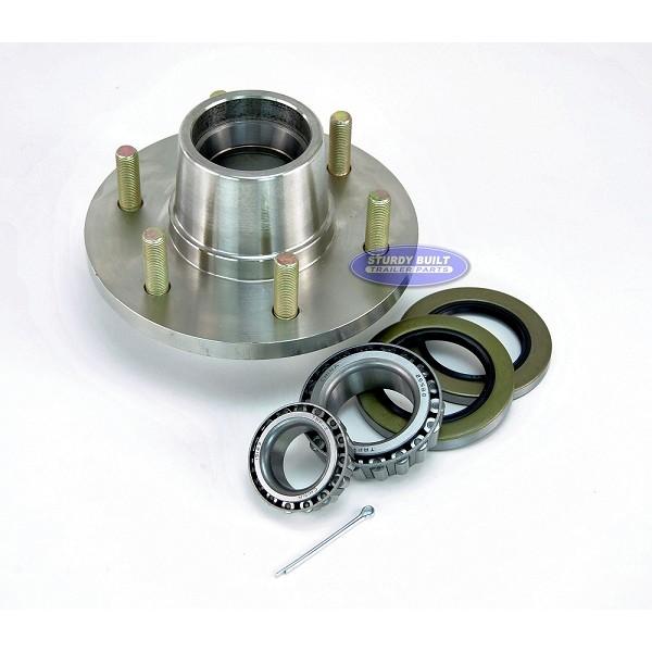 Stainless Steel 6 Lug Boat Trailer Hub with Bearings for 5200lb Axle