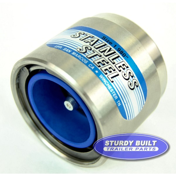 Boat Trailer Bearing Buddy 1.980 Stainless Steel  Most 4 & 5 Bolt Hubs