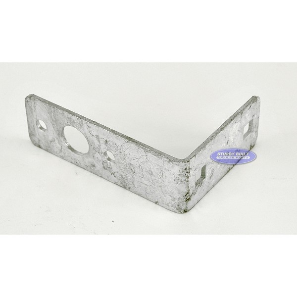 Galvanized Trailer Tail Light Bracket L Shape Standard Mount