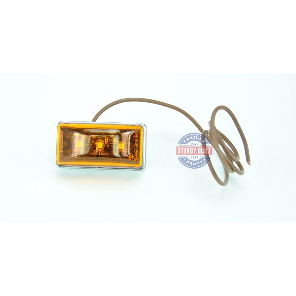 Side Marker Light LED Amber Submersible Single Stud