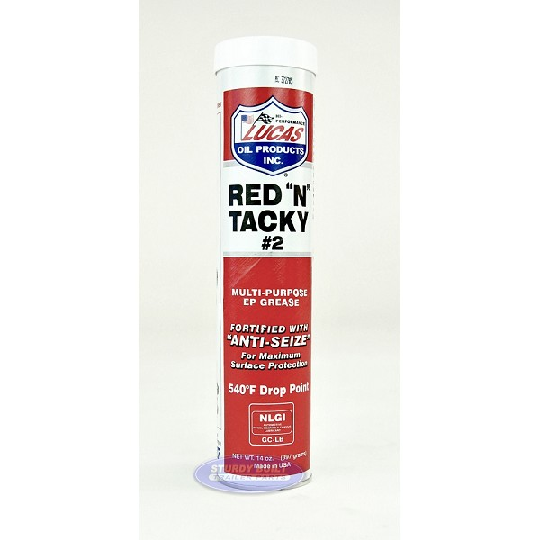 Lucas Red N Tacky Trailer Wheel Bearing Grease Tube for Trailer Hubs